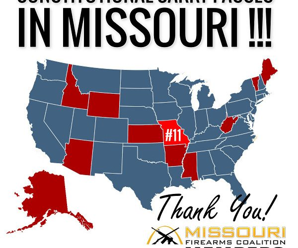 Missouri Passes Constitutional Carry -- You Did It!